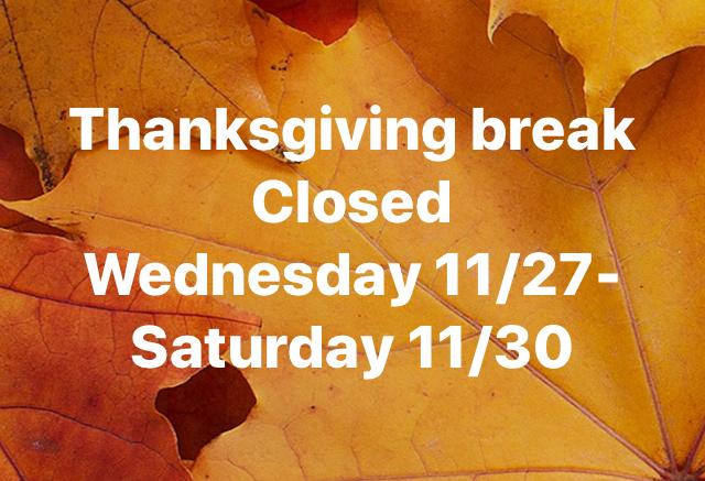 Thanksgiving Holidays School Closing